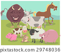 farm animal characters group 29748036