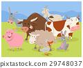 cute farm animal characters 29748037
