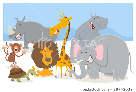 safari animal characters group 29748038