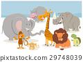 safari cartoon animal characters 29748039