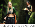 Two female elves walking in the woods 29748558