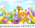动物 卡通 快乐 29749175