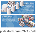 Isometric Factory Banners 29749748