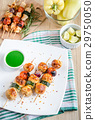 Grilled chicken skewers with zucchini and tomatoes 29750050