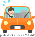차에 어려움을 겪고있는 젊은 여성 29751560