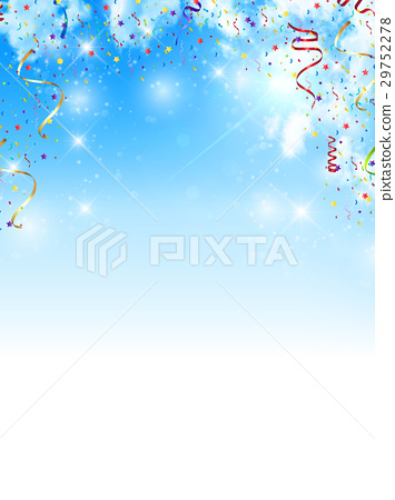 Ribbon sky colorful background 29752278