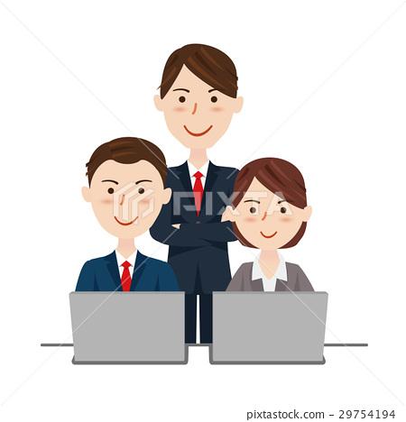 業務團隊辦公桌工作 29754194