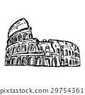 colosseum - vector illustration 29754361