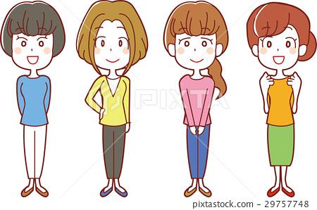 20至30歲的女性插圖 29757748