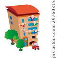 건물 아이콘, 아파트, 건축, 주택 29760315