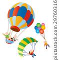 氣球和人,氣球,滑翔傘,天空運動 29760316
