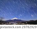 높은 손가락 산에서보기 달빛 후지산 · 야마나카 코와 밤하늘 29762929