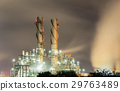Steam electric power plant with sunset  29763489