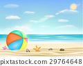 beach ball on a sea sand beach 29764648
