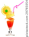 Tequila sunrise cocktail with ice. 29765054