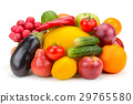 fruits and vegetables isolated on white background 29765580