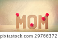 3D MOM Text with Carnation Flowers on the Table 29766372