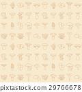 moshroom icons seamless pattern 29766678