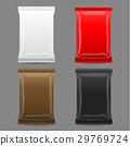 Blank Packaging mock up, 3D, vector 29769724