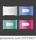 colorful wet wipes package realistic vector 29770037