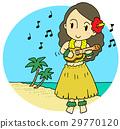 하와이 우쿨렐레 여성 29770120