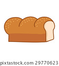bread loaf Isolated illustration 29770623