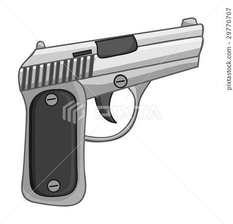 gun isolated illustration 29770707