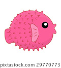 puffer fish isolated illustration 29770773