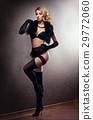 Young and beautiful cabaret dancer in sexy vintage 29772060