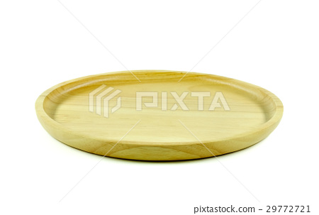 Wooden tray on white background. 29772721