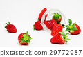 Strawberry glass cup 29772987
