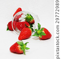 Strawberry glass cup 29772989