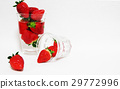 Strawberry glass cup 29772996