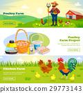 farming, set, banner 29773143