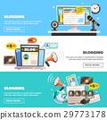 blogging, set, banner 29773178