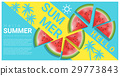 Hello summer background with watermelon 29773843