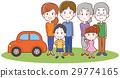 รถและภาพประกอบครอบครัวสามครอบครัวของฉัน 29774165