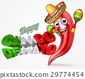 Mexican Cinco De Mayo Chilli Pepper Design 29774454