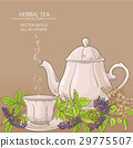 cup of elderberry tea and teapot 29775507