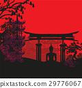 Buddha and Asian landscape 29776067