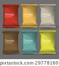 Blank Packaging mock up, 3D 29778160
