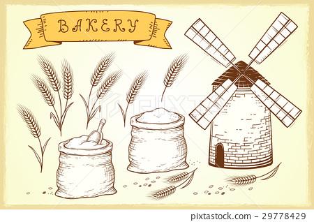 bakery set 29778429