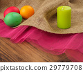Easter colored egg with candle. Mock up for your 29779708