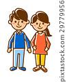 夫妻全身微笑 29779956