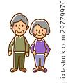 老年夫婦全身微笑 29779970