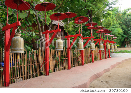 Walkway in Pantao temple at Chiangmai Thailand. 29780100