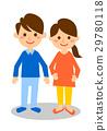 夫妻全身微笑 29780118