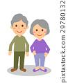 老年夫婦全身微笑 29780132