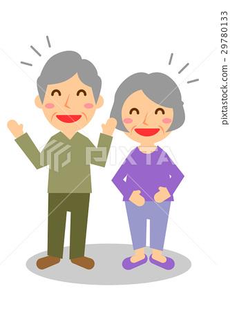 一對老年夫妻全身笑聲 29780133