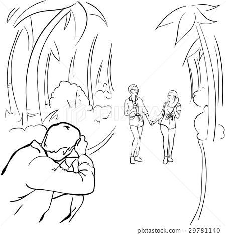 Photographer Taking Photo Of Romantic Couple 29781140